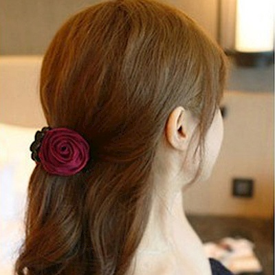 Hera 赫拉 純色花朵馬尾夾-3色