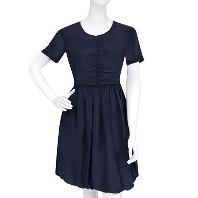 BURBERRY 條紋短袖洋裝(US6/US8號)(藏青色)