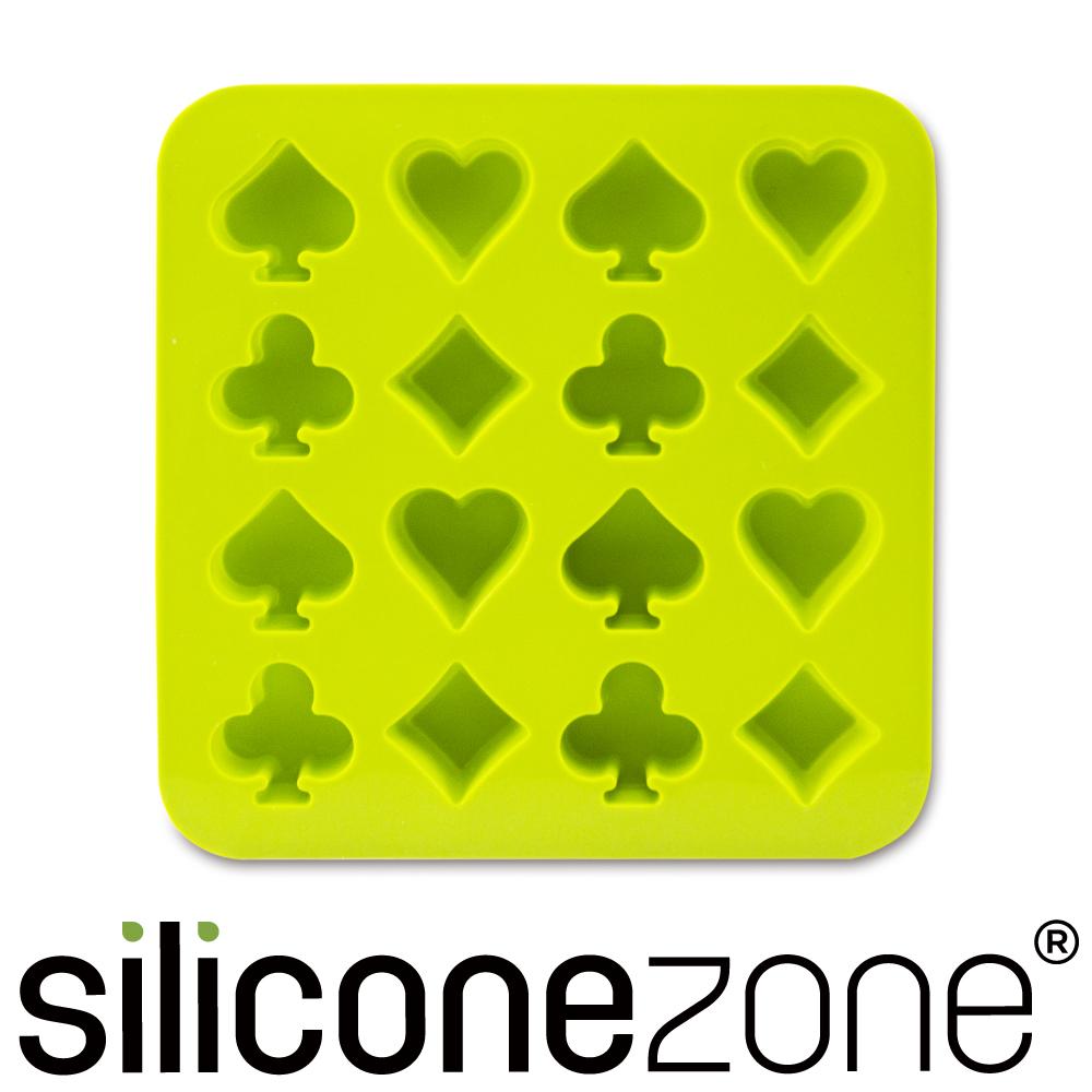 Siliconezone 施理康耐熱撲克造型巧克力模/冰模-綠色