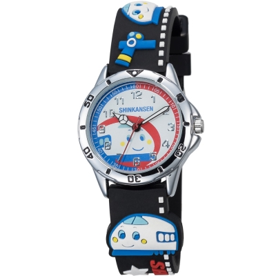 HELLO KITTY 新幹線百變英雄手錶-黑/34mm