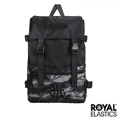 Royal Elastics - 撞色潮流休閒後背包 Light輕盈羽量系列 - 灰迷彩