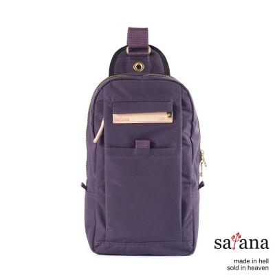 satana - 街頭時尚斜肩包 - 紫色