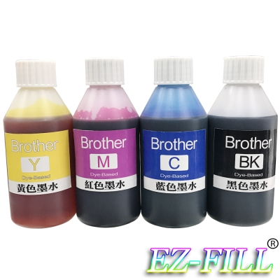EZ FILL Brother 四色填充墨水組(100cc/瓶)