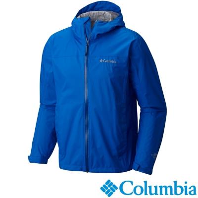 【Columbia哥倫比亞】男-防水快排單件式外套-藍色 URE20230BL