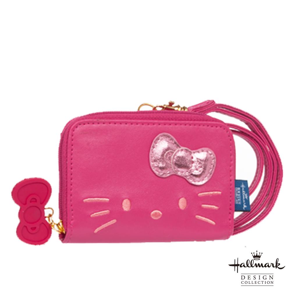 Hallmark 凱蒂聯名款零錢/證件夾-淘氣凱蒂系列-桃紅HLKT12B057PK