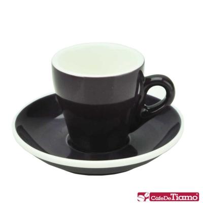 Tiamo 17號鬱金香濃縮杯盤組<b>5</b>客 90cc-紫色(HG0850P)