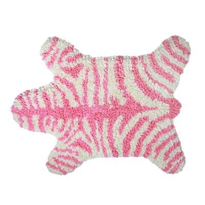 Yvonne Collection斑馬造型地墊-粉紅