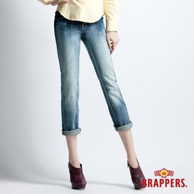 BRAPPERS 女款 Lady Vintage系列-女用彈性七分漸層反摺褲-漸層藍