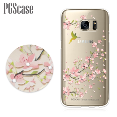 PGS Samsung Galaxy S7 奧地利彩鑽手機殼-鳥語花
