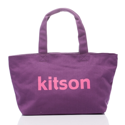 Kitson 雙色帆布托特包L(PURPLE)
