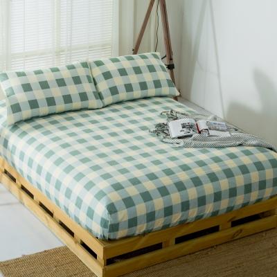 DON北歐格語 雙人三件式蜜絲絨床包枕套組