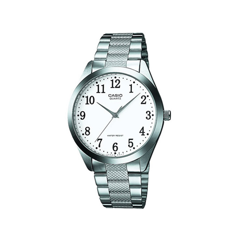 CASIO 富豪金銀時尚指針紳士錶(MTP-1274D-7B)-數字時標/36mm
