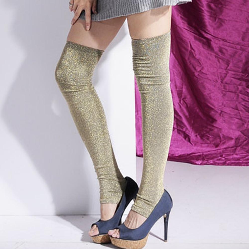Aimee Toff 完美搭配炫亮造型大腿襪(金)