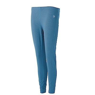 【Wildland 荒野】女彈性時尚印花內搭褲藍