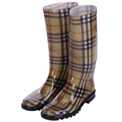 BURBERRY HAYMARKET 格紋雨靴