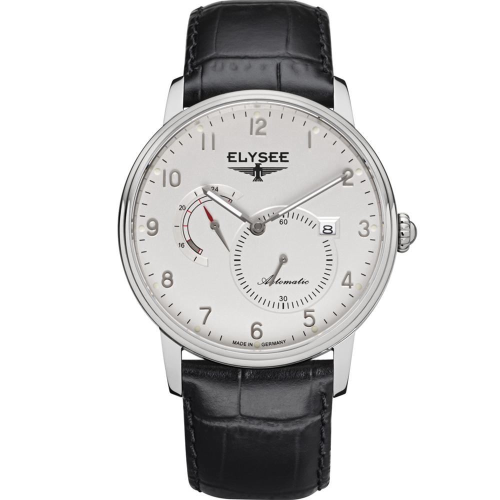 ELYSEE  Priamos  獨立秒針機械腕錶-白/41mm