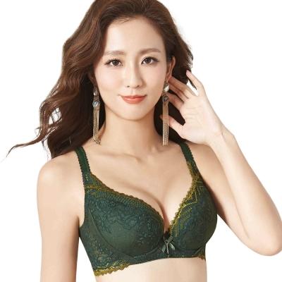 思薇爾 撩波系列D-G罩蕾絲包覆大罩內衣(棲綠色)