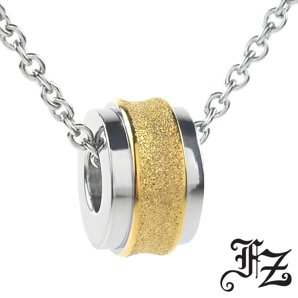 【FZ】摯愛光輪白鋼項鍊(金)