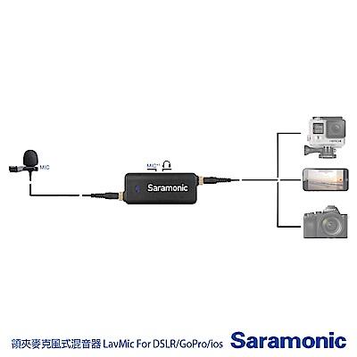 Saramonic 楓笛 領夾麥克風式混音器 LavMic For DSLR/GoPro