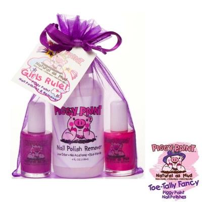 Piggy Paint 天然無毒兒童專用指甲油禮盒組-派對女孩