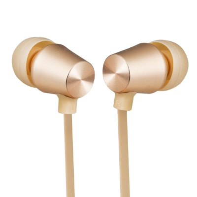 TCSTAR 有線入耳式耳機麥克風-香檳金 TCE5080CG