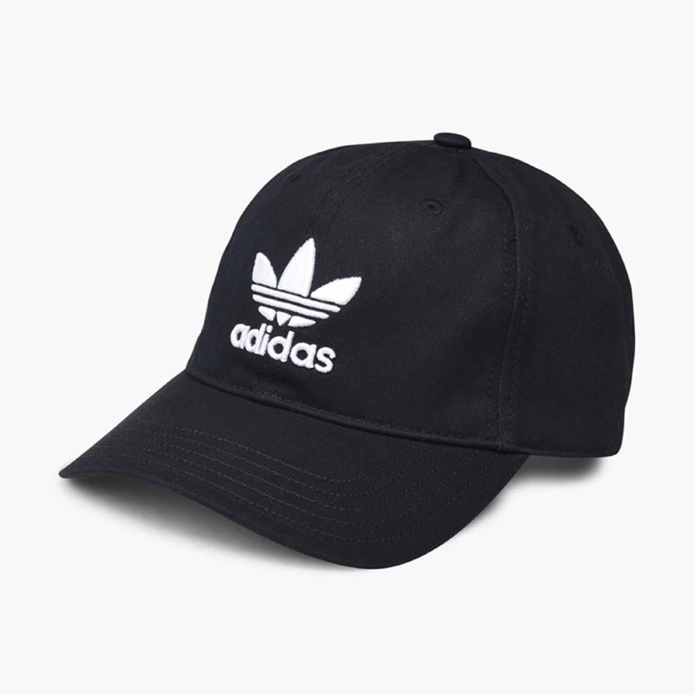 adidas Trefoil Cap帽子男款女款黑