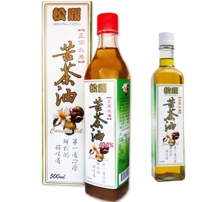松鼎北港苦茶油2瓶買大送小(500mlx2瓶;贈250mlx1瓶)