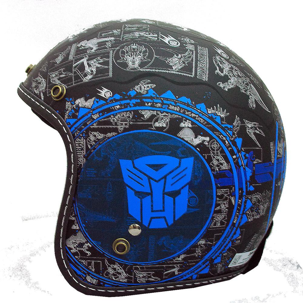 變形金剛安全帽 382D 恐龍系列(藍色)