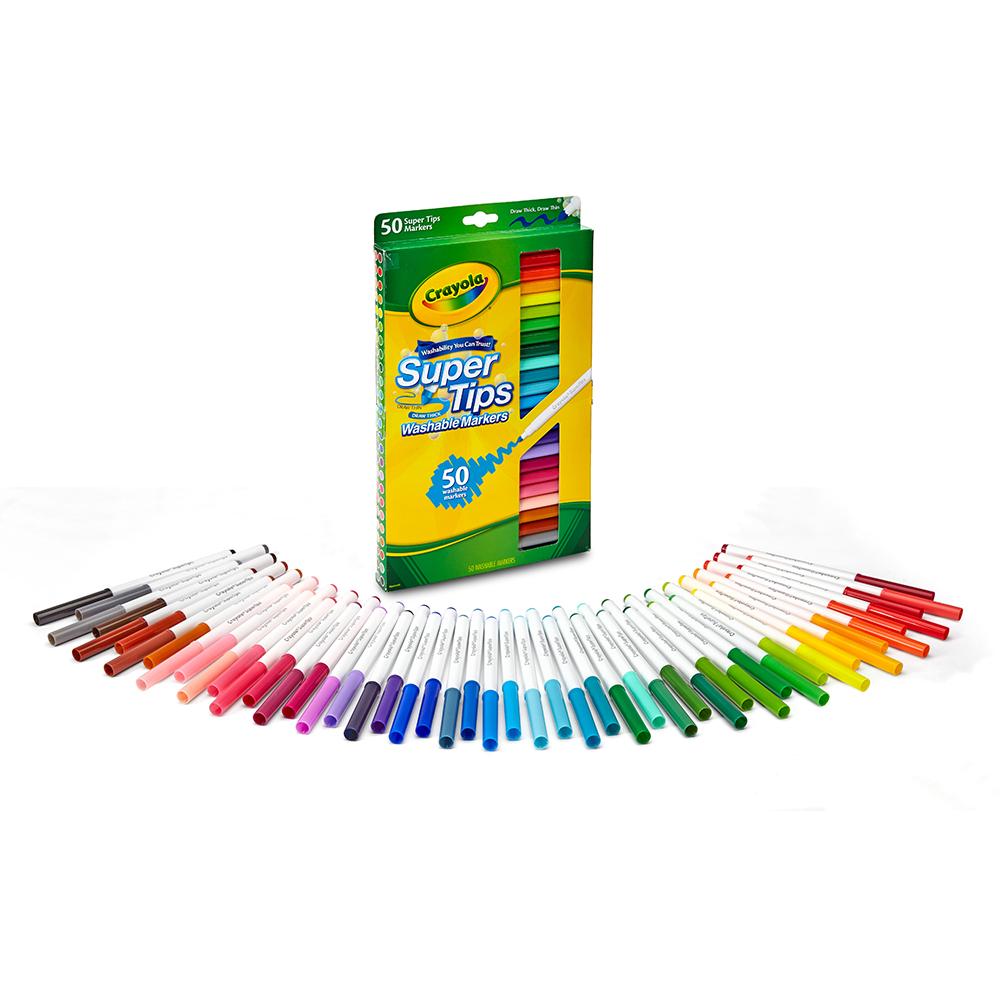 美國 Crayola繪兒樂 可水洗細桿彩色筆50色(4Y+)