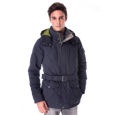 【hilltop山頂鳥】男款超撥水保暖蓄熱羽絨長大衣F22MU5灰
