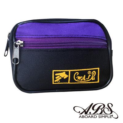 ABS愛貝斯 MIT輕量防潑水多功能腰包 防搶包(黑紫)711