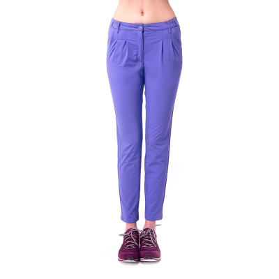 【hilltop山頂鳥】女款吸濕排汗抗UV彈性長褲S07FD6-紫