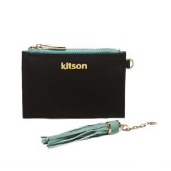 kitson 流蘇Card case真皮鎖匙/零錢包-BLACK