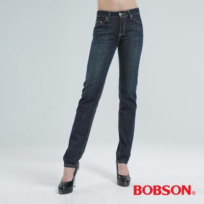 BOBSON 小直筒褲 (深藍)