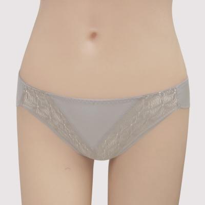 曼黛瑪璉-15AW水迷人系列一-低腰三角萊克褲-香藕灰