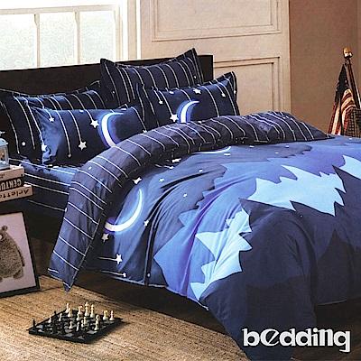 BEDDING-柔絲絨6尺雙人加大薄床包涼被組-晚安