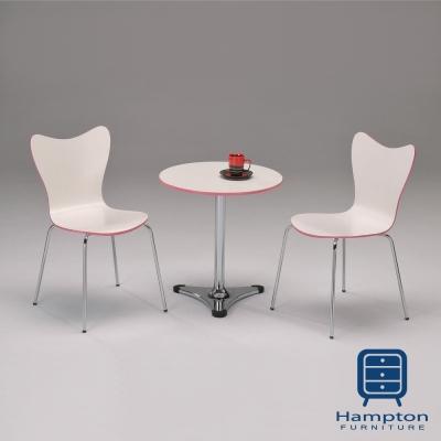 漢妮Hampton日曬緋紅圓桌椅組-1桌2椅(桌-60x60x73cm)