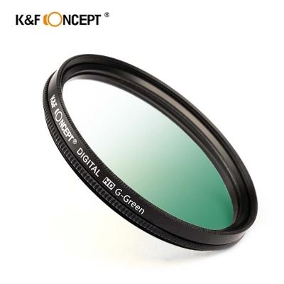 K&F Concept 超薄無暗角清晰漸變圓形濾鏡 綠色