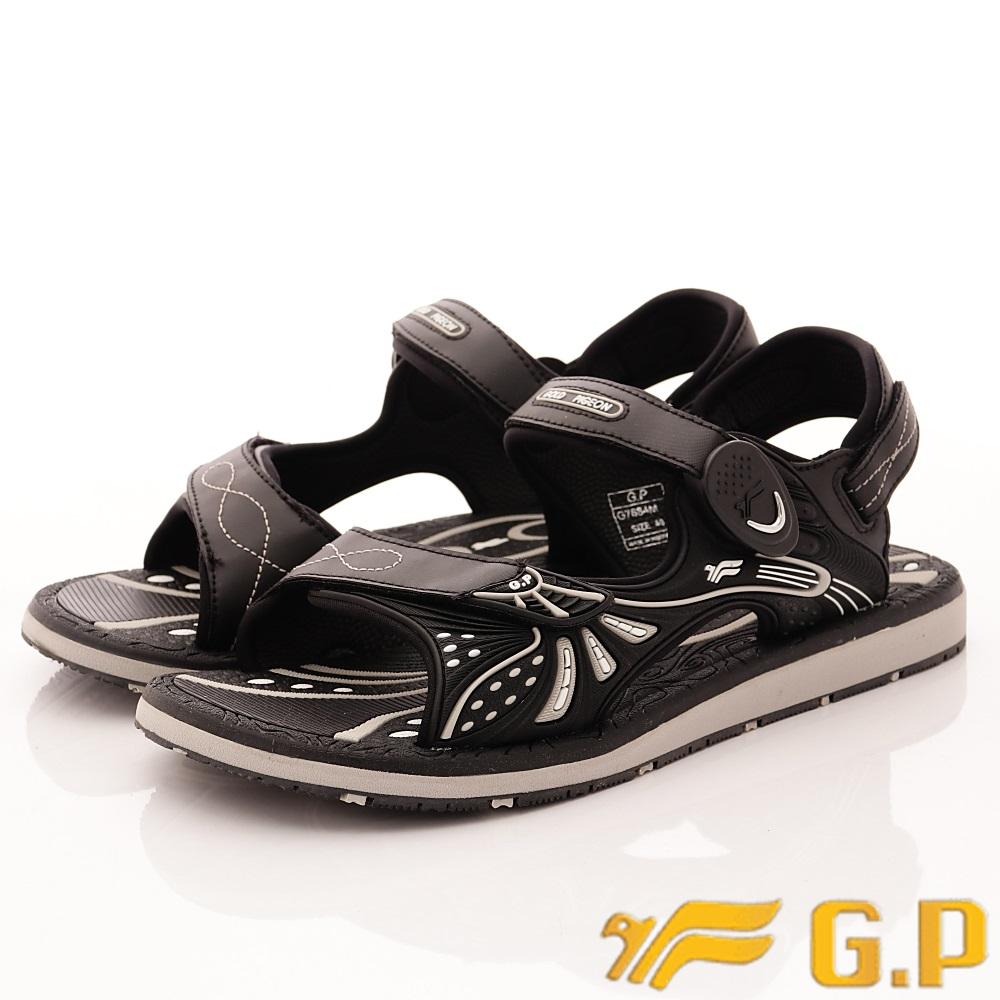 GP時尚涼拖-磁扣兩穿涼鞋-SE684M-10黑(男段)