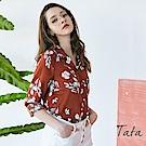 印花單排釦上衣 TATA