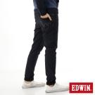 EDWIN 大尺碼迦績褲JERSEYS貼合內裏保溫直筒褲-男-酵洗藍