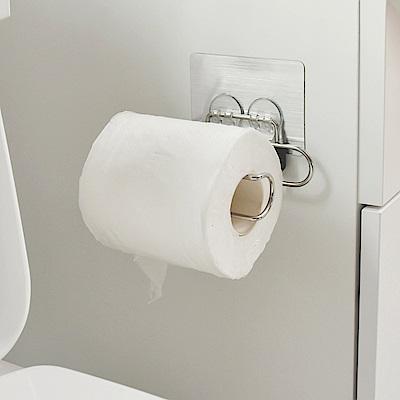 樂貼工坊 不鏽鋼衛生紙架/捲筒式/金屬貼面(2入組)-12.5x7.5x3