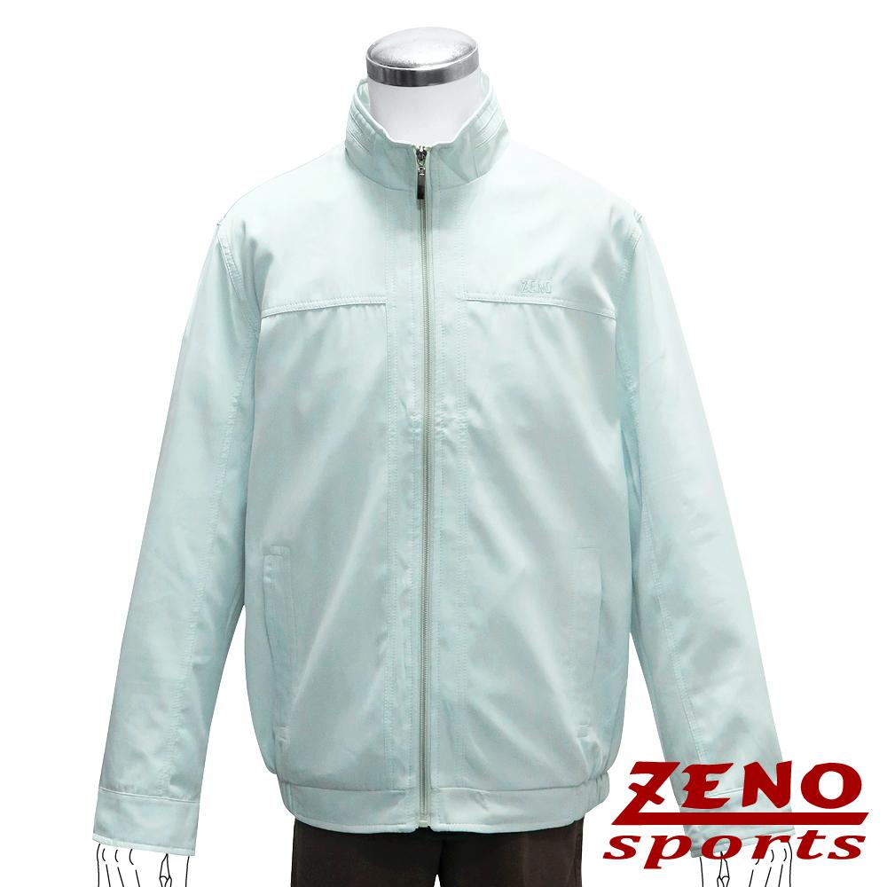 ZENO 極簡繡字輕薄外套‧淺藍M~3L