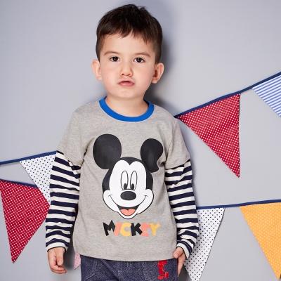 Disney baby 米奇系列愛笑假二件式上衣 (共2色)