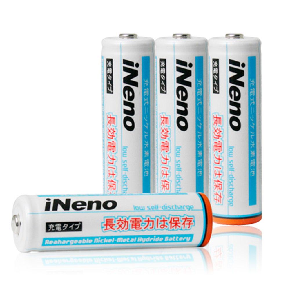 iNeno艾耐諾低自放3號鎳氫充電電池8入