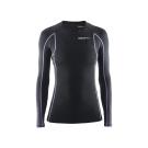CRAFT DELTA女款運動壓縮長袖上衣 黑/紫