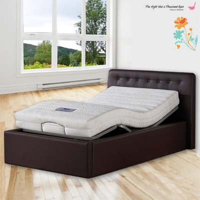 愛比家具-尊榮搖控電動床-冷凝膠按摩床墊-不含床架-單人3-5尺