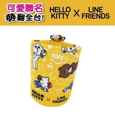 Hello Kitty ╳ LINE 可愛聯名 汽車冷氣出風口置物掛袋