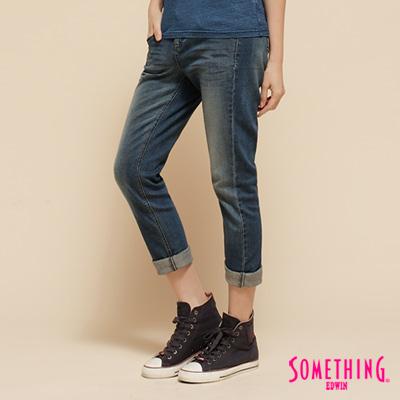 SOMETHING-樂活搖擺-NEO-Parislim甜筒褲-女款-重漂藍