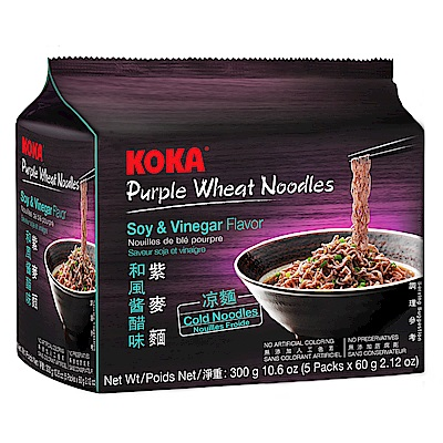KOKA紫麥麵-和風醬醋味(60gx5入)